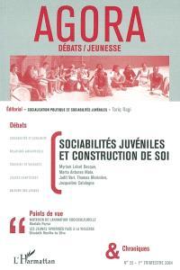 Agora. n° 35, Sociabilités juvéniles et construction de soi