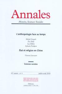Annales. n° 4 (2010), L'anthropologie face au temps