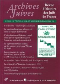 Archives juives. n° 45-1