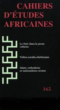 Cahiers d'études africaines. n° 165