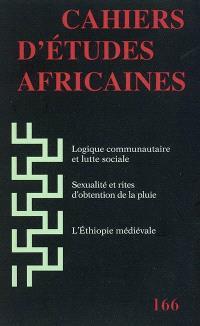 Cahiers d'études africaines. n° 166