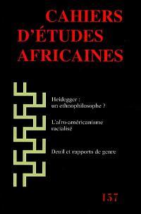 Cahiers d'études africaines. n° 157