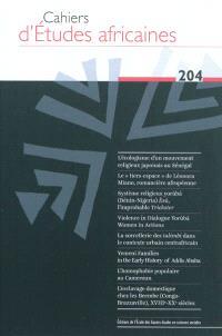 Cahiers d'études africaines. n° 204