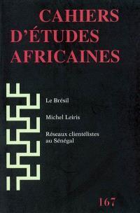 Cahiers d'études africaines. n° 167