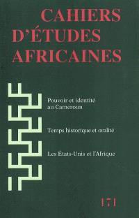 Cahiers d'études africaines. n° 171