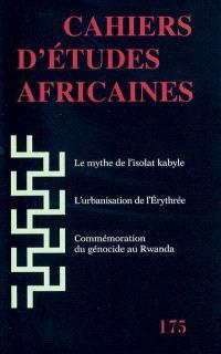 Cahiers d'études africaines. n° 175
