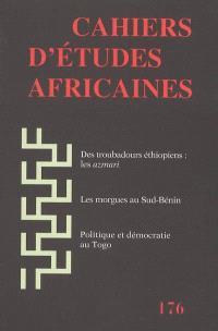Cahiers d'études africaines. n° 176