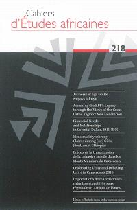 Cahiers d'études africaines. n° 218