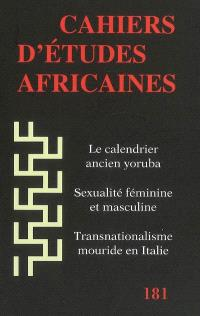 Cahiers d'études africaines. n° 181