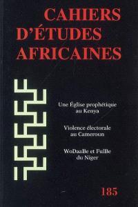 Cahiers d'études africaines. n° 185