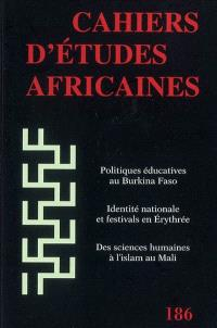 Cahiers d'études africaines. n° 186