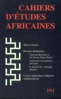 Cahiers d'études africaines. n° 191