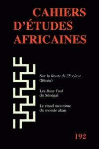 Cahiers d'études africaines. n° 192