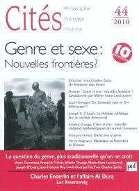 Cités. n° 44, Genre et sexe