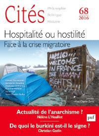 Cités. n° 68, Hospitalité ou hostilité : face à la crise migratoire