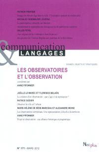 Communication & langages. n° 171, Les observatoires et l'observation