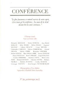 Conférence. n° 40, L'Europe inouïe (1). Notes sur Venise (3)
