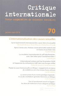 Critique internationale. n° 70, L'internationalisation des causes sexuelles