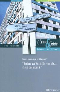 Cultures & sociétés. n° 15, Banlieue, quartier, ghetto, zone, cité... et puis quoi encore ?