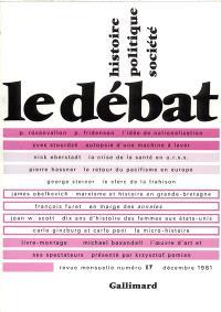 Débat (Le). n° 17