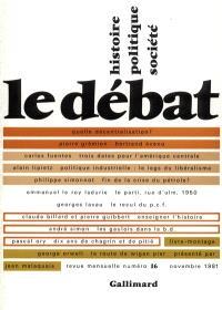 Débat (Le). n° 16