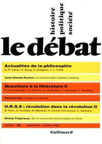 Débat (Le). n° 56, Actualités de la philosophie. Questions à la littérature II. URSS : révolution dans la révolution II