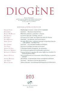 Diogène. n° 203, Aspects de la pensée aux Etats-Unis