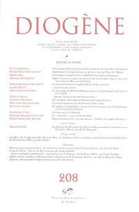 Diogène. n° 208, Mythes et genre