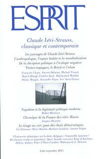 Esprit. n° 377, Claude Lévi-Strauss, classique et contemporain
