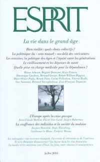 Esprit. n° 366, La vie dans le grand âge
