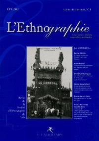 Ethnographie (L'). n° 1 (2001)