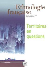 Ethnologie française. n° 1 (2004), Territoires en questions