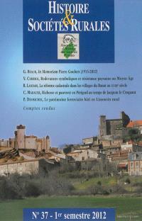 Histoire & sociétés rurales. n° 37