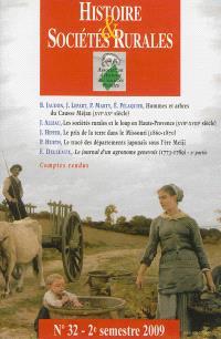 Histoire & sociétés rurales. n° 32