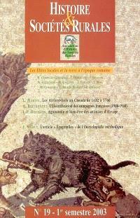 Histoire & sociétés rurales. n° 19, Les élites locales et la terre à l'époque romaine
