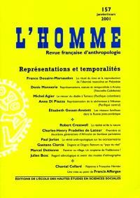 Homme (L'). n° 157, L'homme, représentations et temporalités