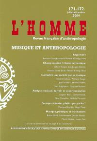 Homme (L'). n° 171-172, Musique et anthropologie