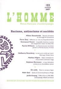 Homme (L'). n° 182, Racisme, antiracisme et sociétés