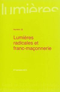 Lumières. n° 22, Lumières radicales et franc-maçonnerie