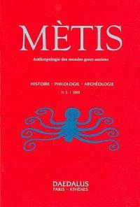 Mètis, nouvelle série. n° 1