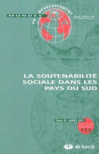 Mondes en développement. n° 156, La soutenabilité sociale dans les pays du Sud