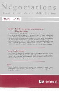 Négociations. n° 1 (2015), Prendre au sérieux les négociations : un anniversaire.... Genre et ordre négocié