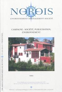 Norois. n° 218, Campagne : société, publicisation, environnement