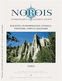 Norois. n° 229, Ruralité, géomorphologie littorale, toponymie, corps et imaginaire