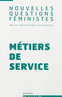 Nouvelles questions féministes. n° 2 (2012), Métiers de services