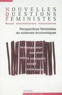 Nouvelles questions féministes. n° 2 (2007), Perspectives féministes en sciences économiques