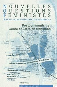 Nouvelles questions féministes. n° 2 (2004), Postcommunisme : genre et Etats en transition