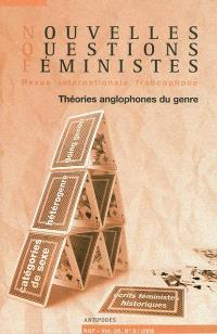 Nouvelles questions féministes. n° 3 (2009), Théories anglophones du genre