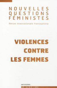 Nouvelles questions féministes. n° 1 (2013), Violences contre les femmes