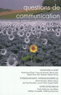 Questions de communication. n° 19, Annoncer la mort
